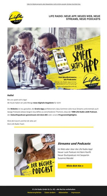 Life Radio Newsletter