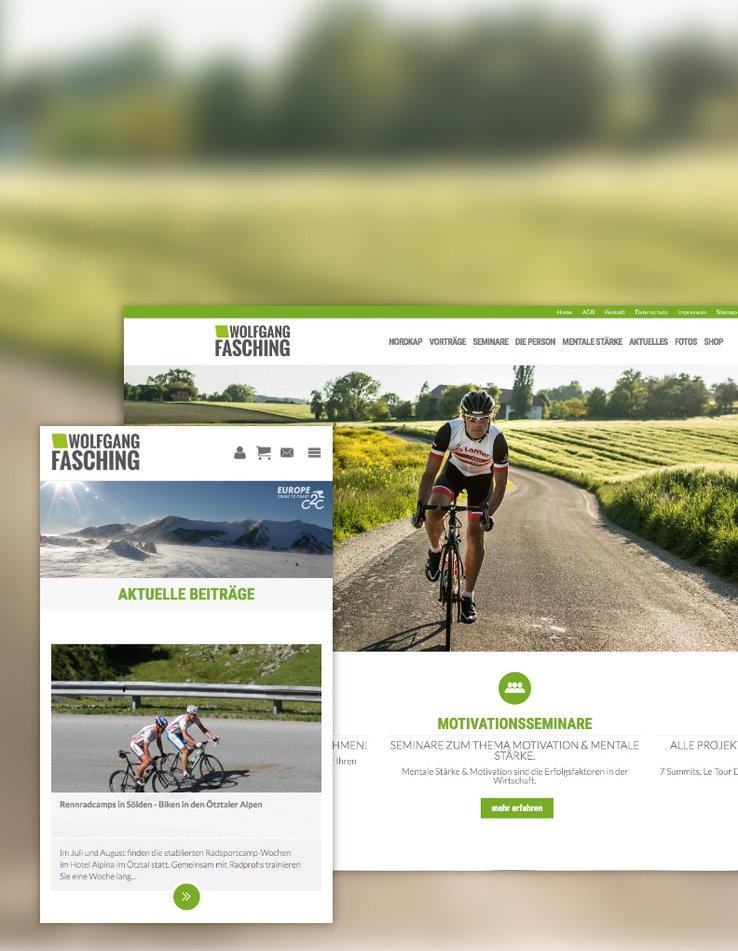 Fasching Website & Webshop