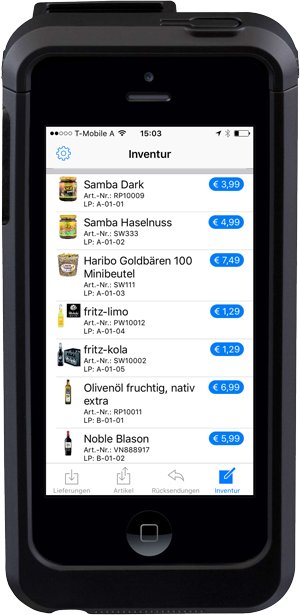 Pickware Mobile - Lager - Inventur
