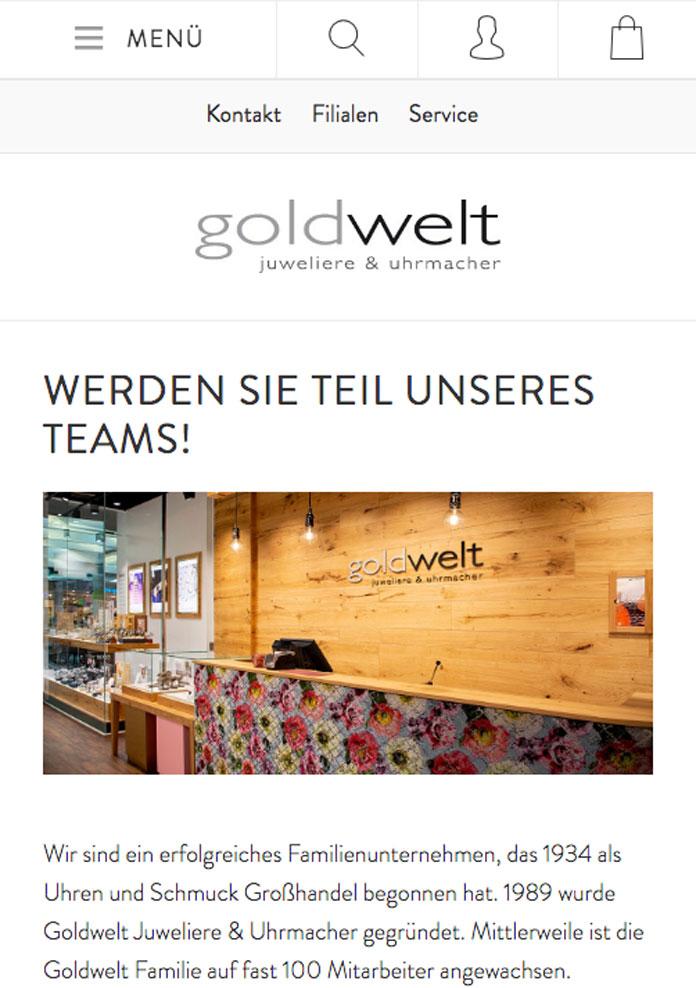 Goldwelt Karriere