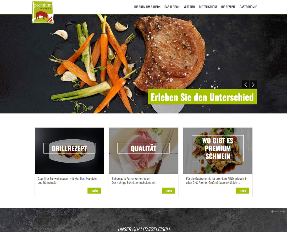 Premiumfleisch Website