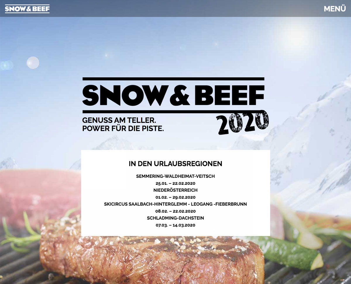 Snow & Beef