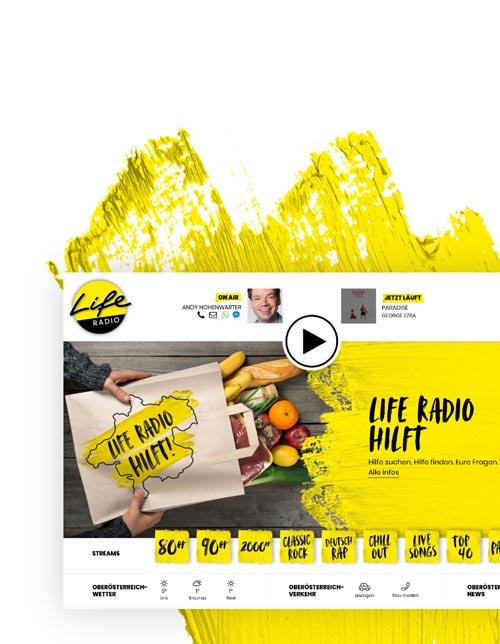 Webdesign und TYPO3 für Life Radio